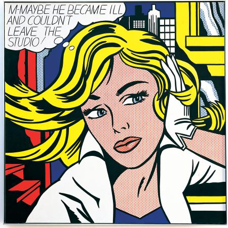roy-lichtenstein-m-maybe-1963
