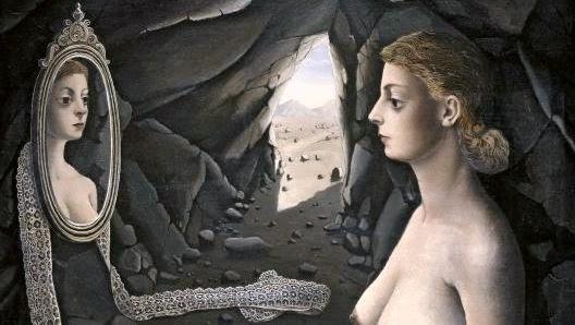 mujer ante el espejo p.delvaux